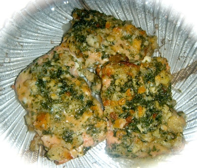 Crusted Honey Mustard Baked Salmon