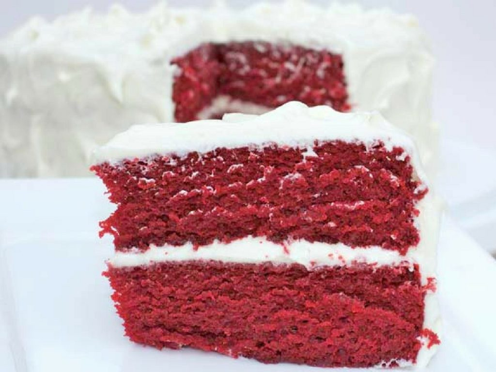 Homemade Moist Red Velvet Cake