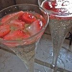 strawberries champagne punch recipe