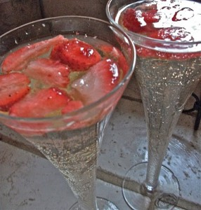 Strawberries & Champagne Punch