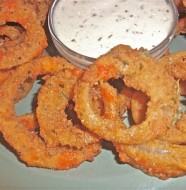 homemade Buffalo onion rings recipe
