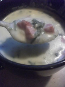 Homemade Potato Soup Recipe w/ Spinach & Sausage