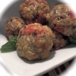 stuffed turkey meatball appetizers
