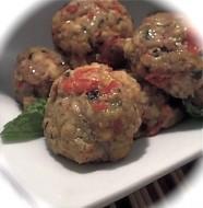 stuffed turkey meatball appetizers