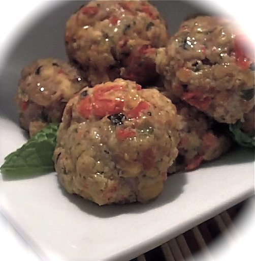 Stuffed Meatballs: Italian Cheese & Herb
