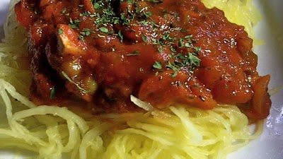 Vegetable Garden Spaghetti Made With Spaghetti Squash