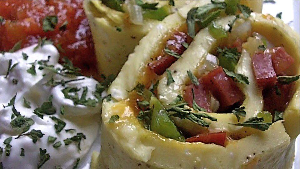 Baked Pinwheel Omelet Recipe