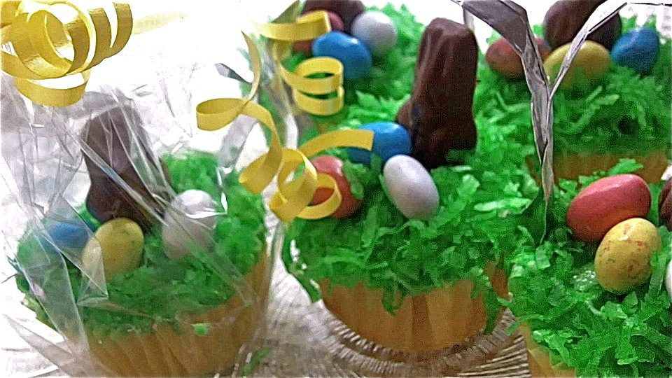 easter basket cupcakes recipe