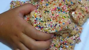 Cake Batter Rice Krispy Treats Recipe
