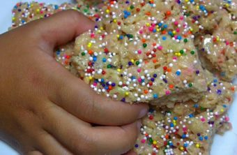 Cake Batter Rice Krispy Treats Recipe