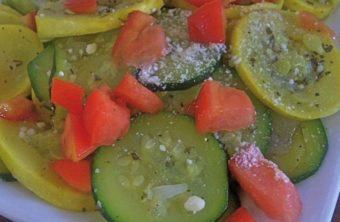 zucchini squash tomato