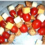 chicken cheese tomato appetizer sticks recipe