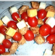 chicken cheese tomato appetizer sticks recipe
