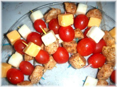 Taco Chicken Tomato Appetizer Sticks