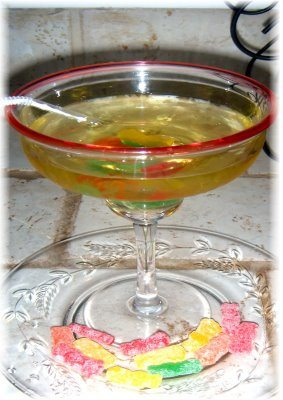 Sour Patch Apple Martini