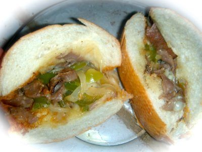 Authentic Philly Cheese Steak Sandwich