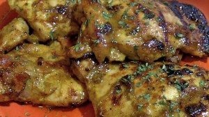 Honey Curry Chicken Thighs