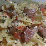 Creamy Pasta, Sausage & Tomato Skillet Meal