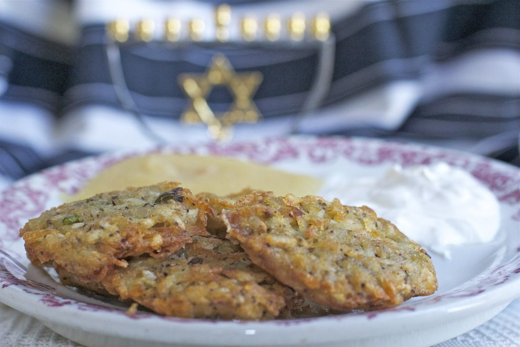 Hanukkah potato latkes recipe
