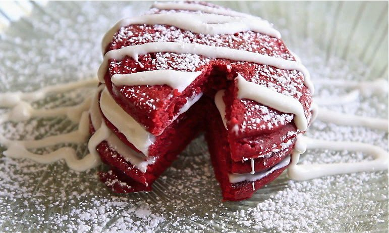 Red velvet pancakes recipes