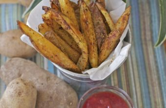 Cajun Seasoned Crispy Oven Baked Fries Recipe