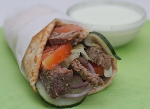 Easy Greek Lamb Wraps Recipe