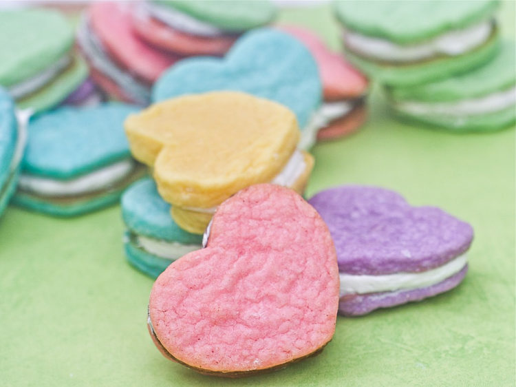 cream cheese heart cookies