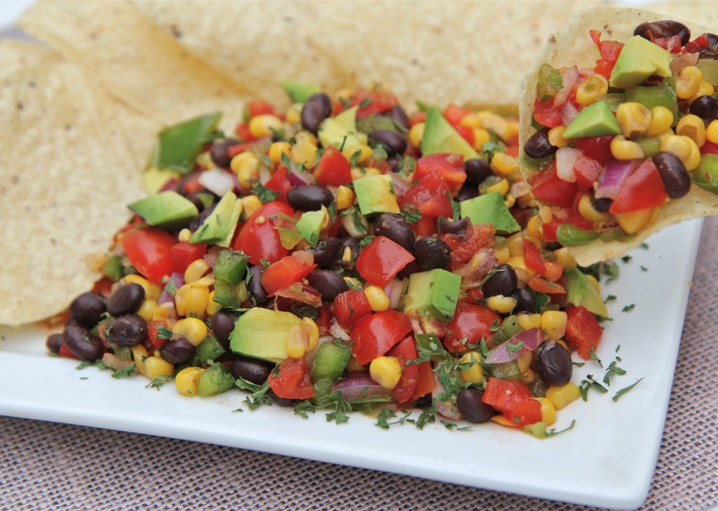 Watch me make this black bean corn salad from start to finish!