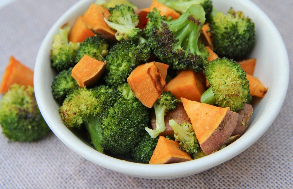 Roasted Broccoli and Sweet Potatoes Recipe ADDICTIVE!! | Divas Can ...