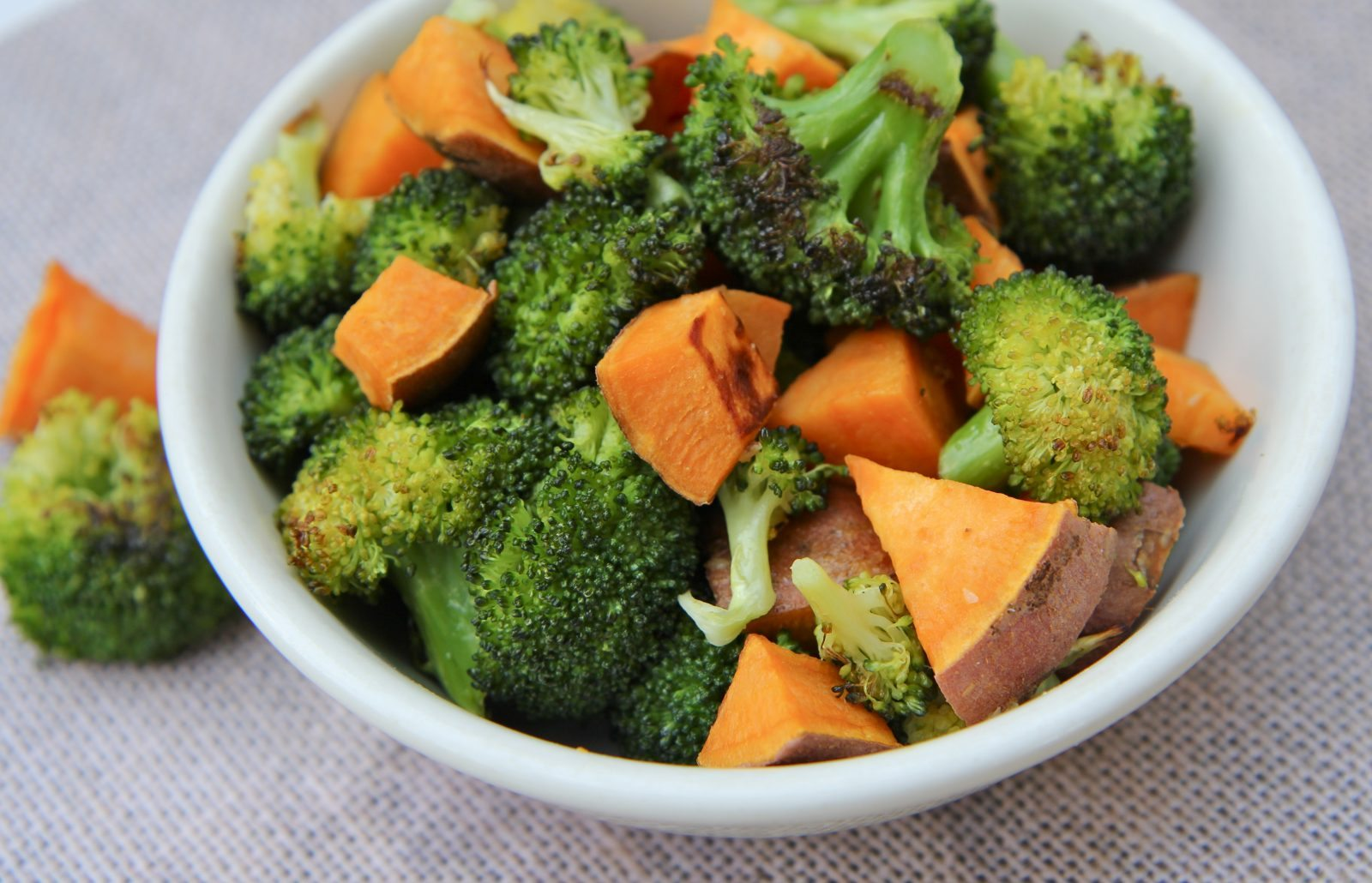 Roasted Broccoli and Sweet Potatoes…Yes Please!