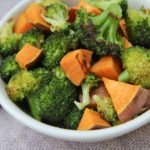 roasted broccoli and sweet potatoes recipe