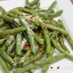 fresh roasted green beans recipe parmesan garlic