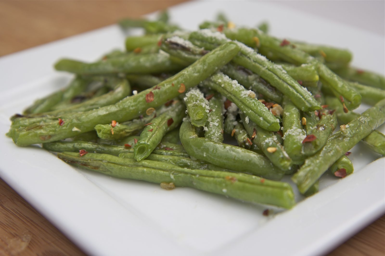 Fresh Roasted Parmesan Garlic Green Beans