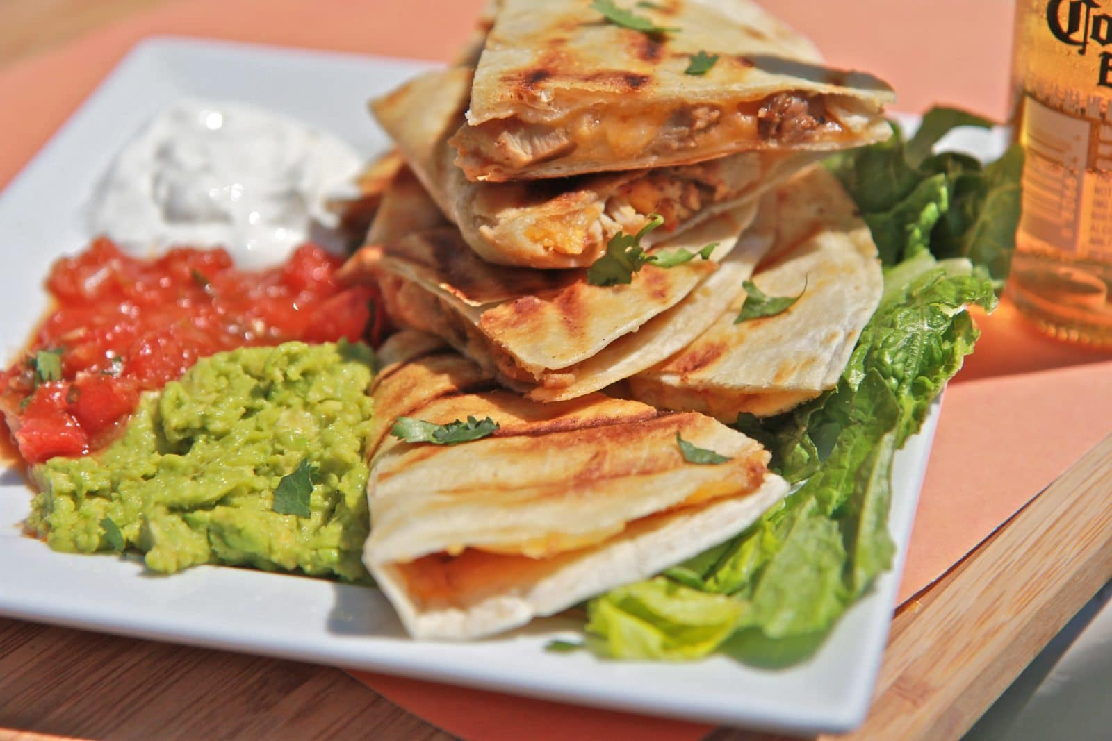 Easy Smoked Chicken Cheese Quesadilla Recipe | Divas Can Cook