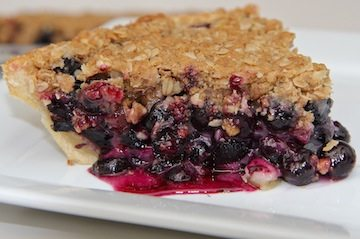 fresh blueberry crumb pie recipe easy homemade