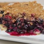 Fresh Blueberry Crumb Pie