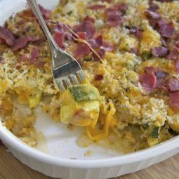 cheesy zucchini bake recipe bacon casserole