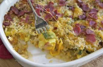 Cheesy Bacon Zucchini Bake
