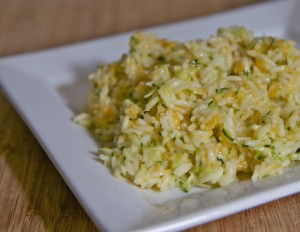 cheesy zucchini rice recipe side dish easy dinner idea