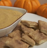 pumpkin pie dip recipe cinnamon sugar pie crust bites