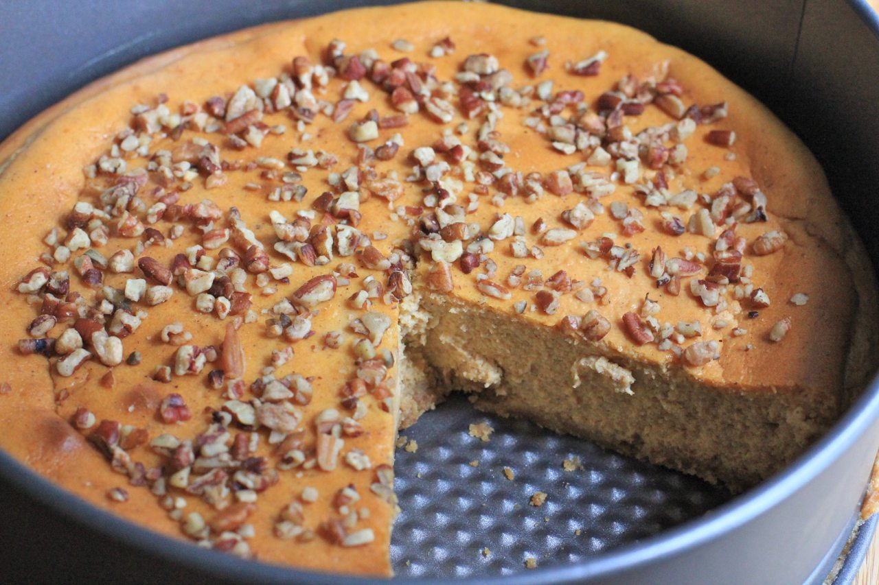 Watch me make this Easy Pumpkin Pie Cheesecake from start to finish!