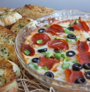 Hot pepperoni pizza dip recipe