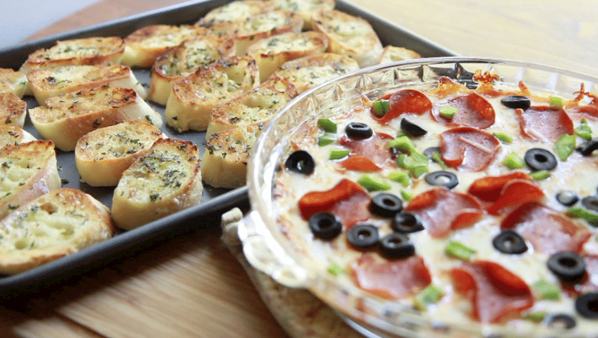 Hot Pizza Dip Recipe — Dishmaps