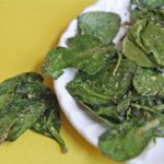 Italian Herb Baked Spinach Chips recipe