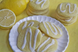 Lemon Ricotta Sugar Cookies w/ Lemon Glaze