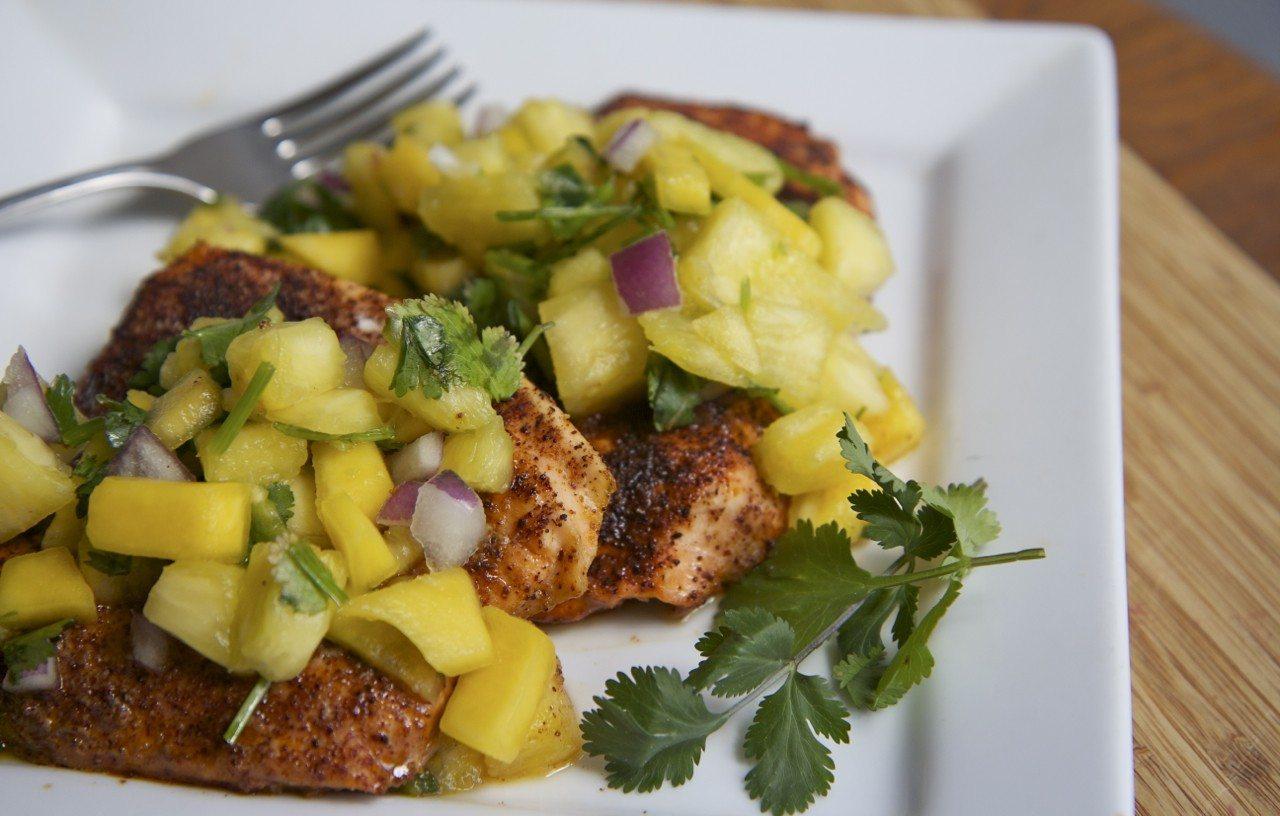 chili salmon recipe pineapple mango salsa recipe