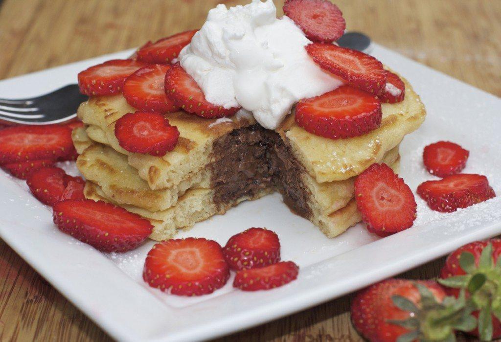 Nutella Stuffed Pancakes Recipes