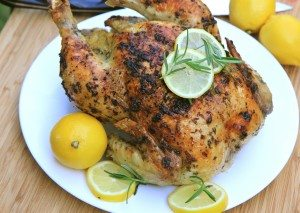Lemon, Garlic & Rosemary Roasted Chicken