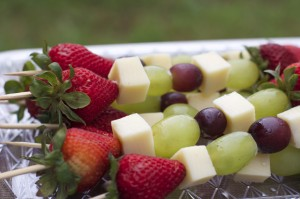 Fruit & Cheese Kabobs- Easy Cookout Appetizer