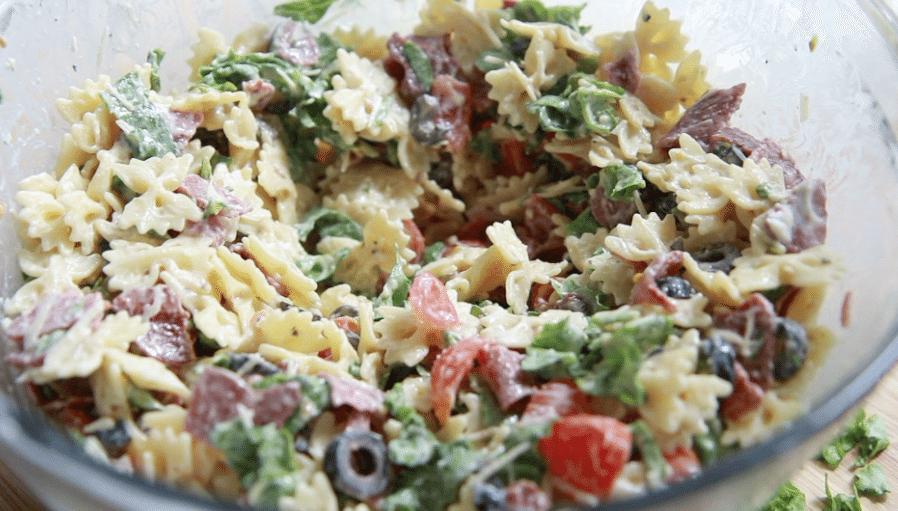 BLT Caesar Pasta Salad Recipe